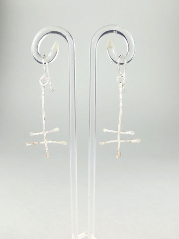 Hand-forged,dragonfly,earrings,#4,Lieta, Marziali, contemporary, jewellery, ecosilver, recycled, dragonfly, hammered, forged, textured, silver