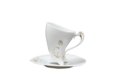 Flying,Daisy,(coffee,cup,&,saucer)翔三角咖啡杯盤組,tableware, coffee, coffee cup, 咖啡杯