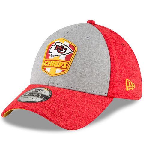 separation shoes 6cb9d 25587 Kansas City Chiefs New Era 2018 NFL Sideline Road Official 39THIRTY Cap