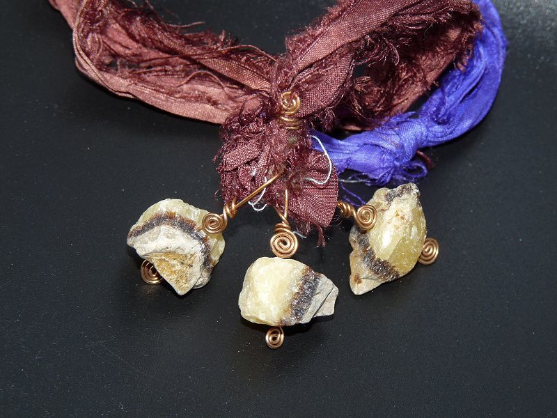 Septarian and Silk Necklace - product image