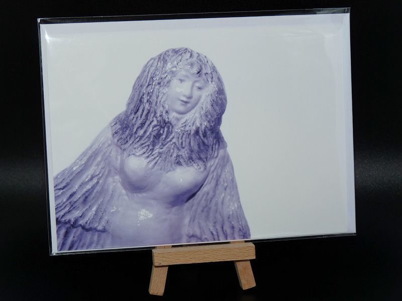 Lilac Angel, Spiral Goddess, blank greeting cards - product image