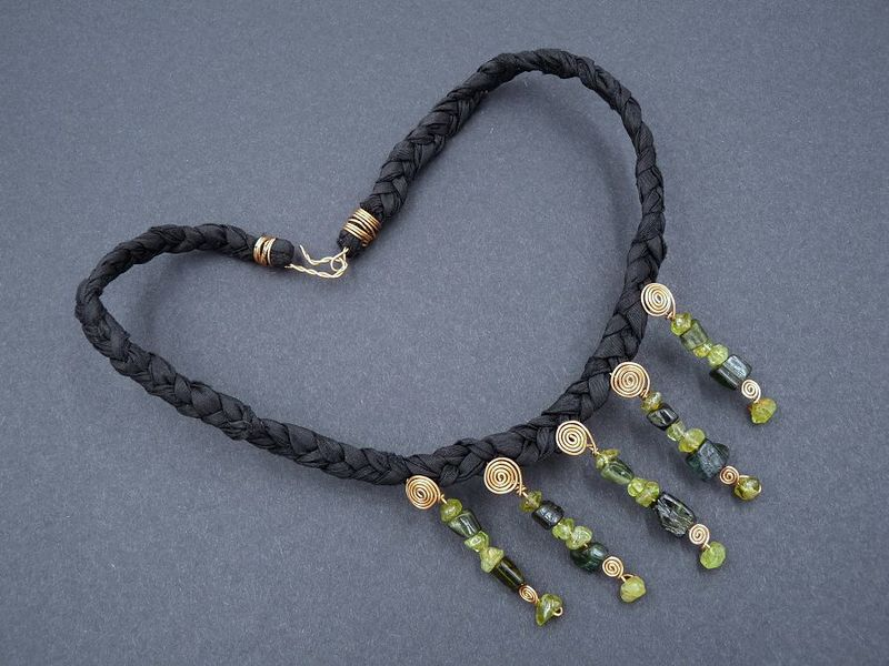 Green Tourmaline and Peridot necklace - product image