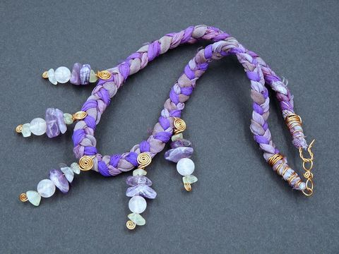 Rose,Quartz,,Prehnite,,Amethyst,and,Bronze,necklace,prehnite necklace,rose quartz necklace,amethyst necklace
