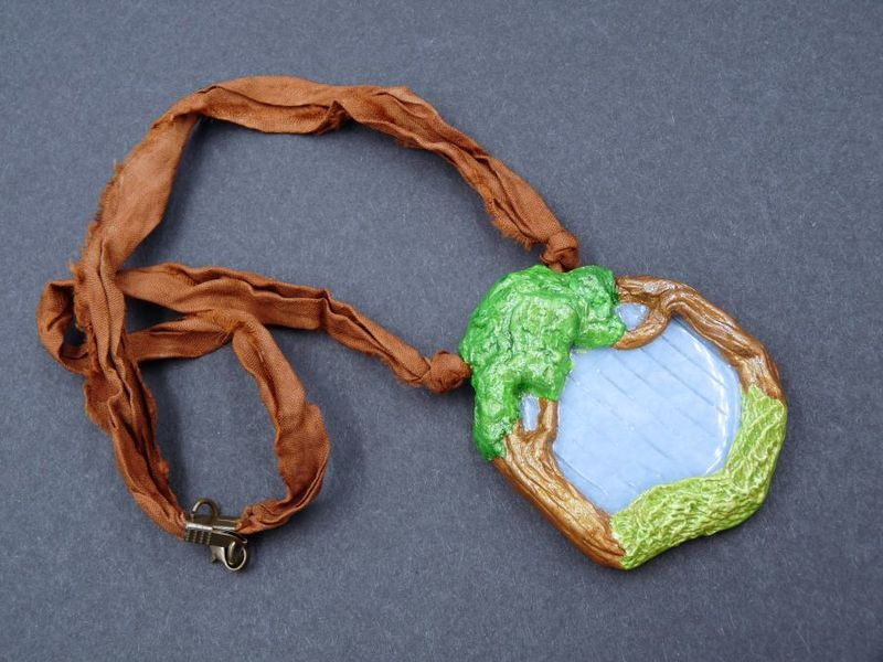 Angelite Trees sculpture necklace - product image
