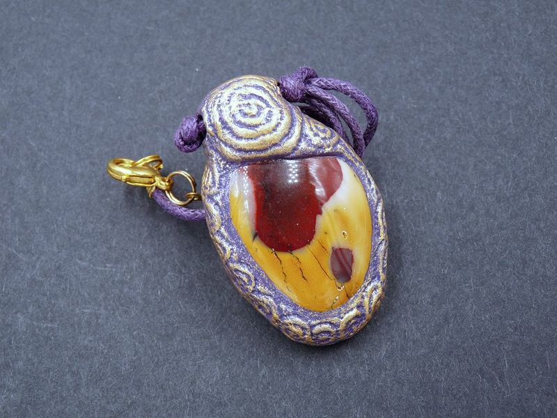 Mookaite Spiral sculpture necklace - product image