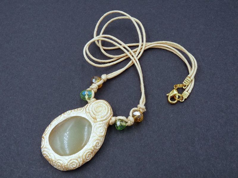 Jade Spiral sculpture necklace - product image