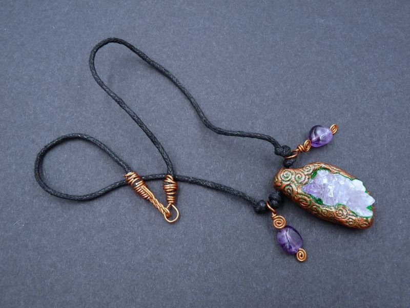 Amethyst Spiral necklace - product image