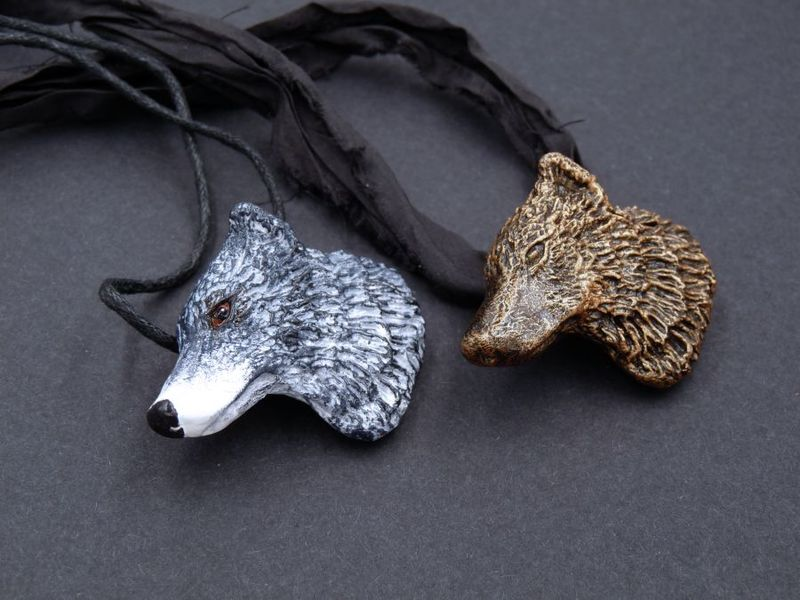 Wolf Head necklace - product image