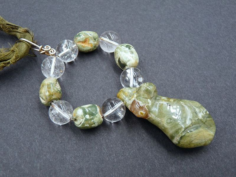 Rhyolite Jasper Moon Goddess necklace - product image