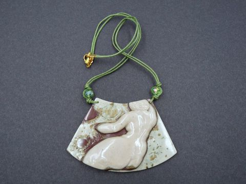 Carved,Flower,Goddess,necklace,jasper goddess,carved jasper goddess,green jasper,carved flowers,goddess necklace,flower goddess necklace