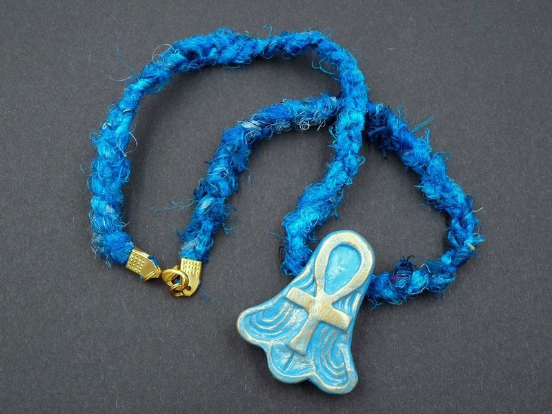Ankh with Lotus necklace - product image