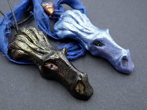 Limited,Edition,Dragon,pendants,dragon jewellery,dragon jewelry,black dragon necklace,blue dragon necklace