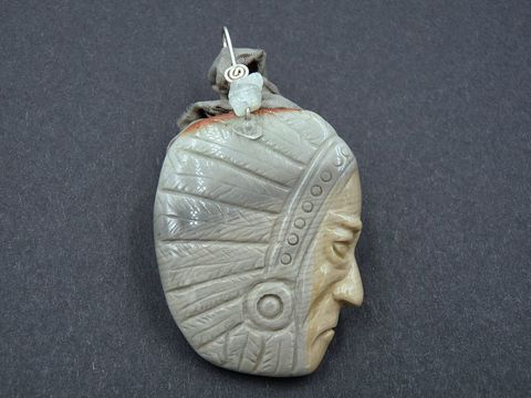 Succor,Creek,Jasper,carved,face,necklace,with,Aquamarines,succor creek jasper,carved jasper face, carved jasper jewellery, carved jasper pendant
