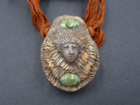 Woodland,Elf,with,Rhyolite,Jasper,woodland elf sculpture,woodland elf necklace,woodland elf pendant,elf jewellery,elf jewelry