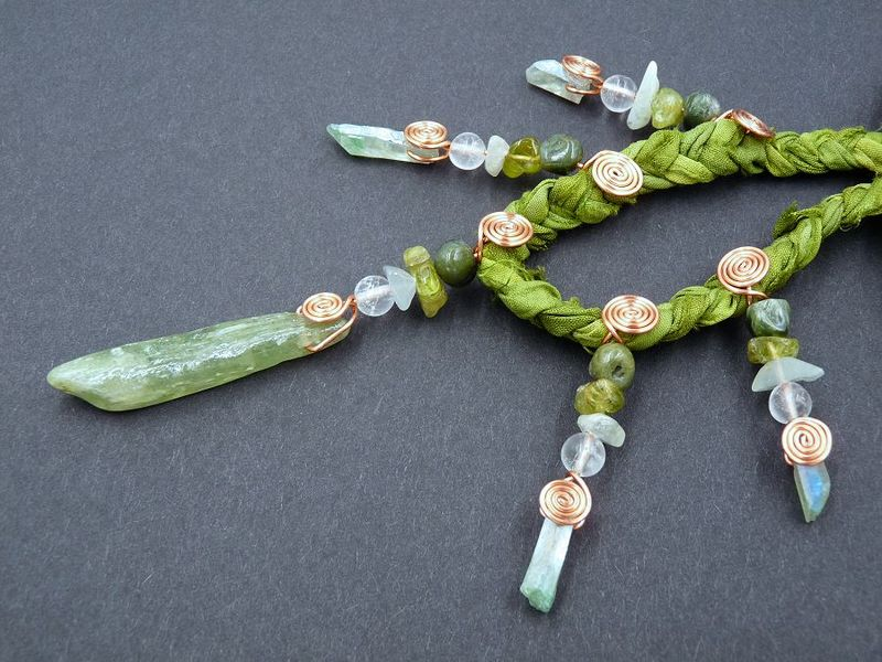 Green Kyanite necklace - product image