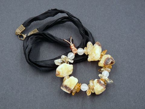 Septarian,,Citrine,,Quartz,necklace,septarian necklace,septarian pendant,septarian jewellery,septarian jewelry