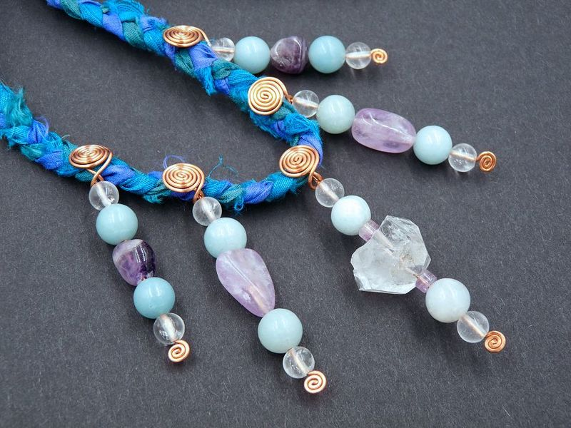 Quartz and Amazonite necklace - product image