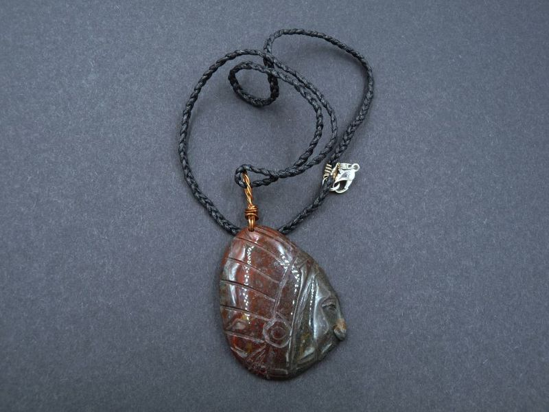Carved Agate Spirit Guide Amulet - product image