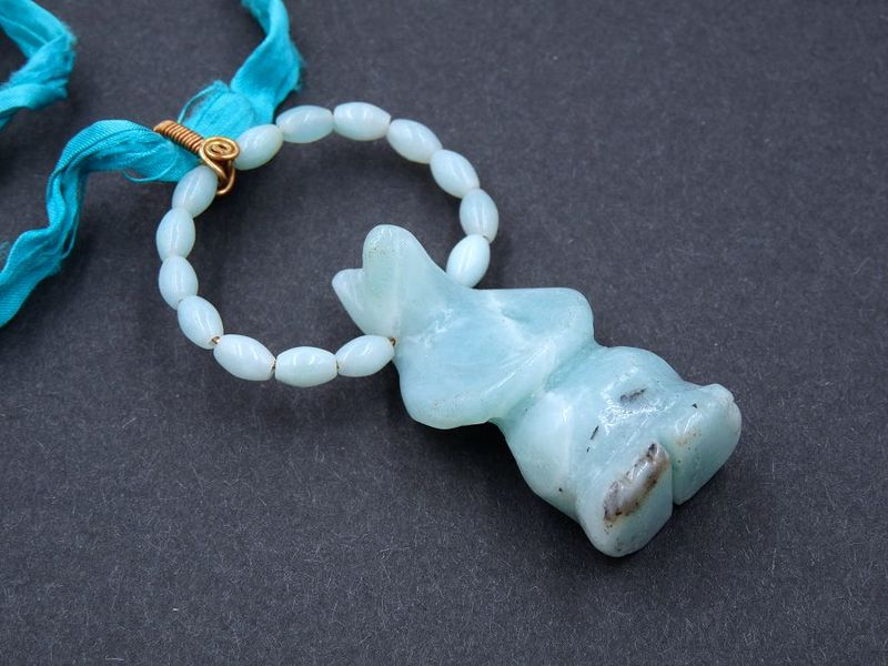 Amazonite Standing Bear necklace - product image