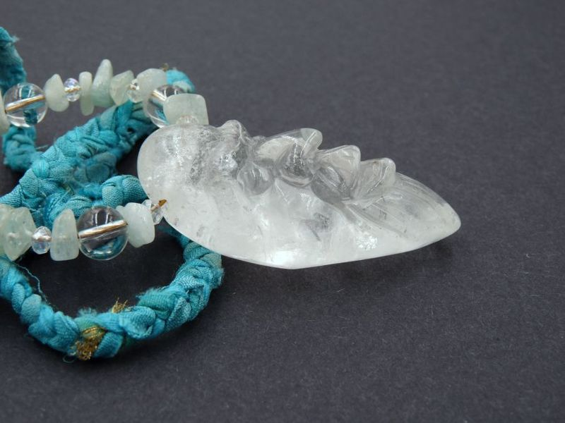 Sea Spirit, a Quartz and Aquamarine Spirit Guide Necklace - product image