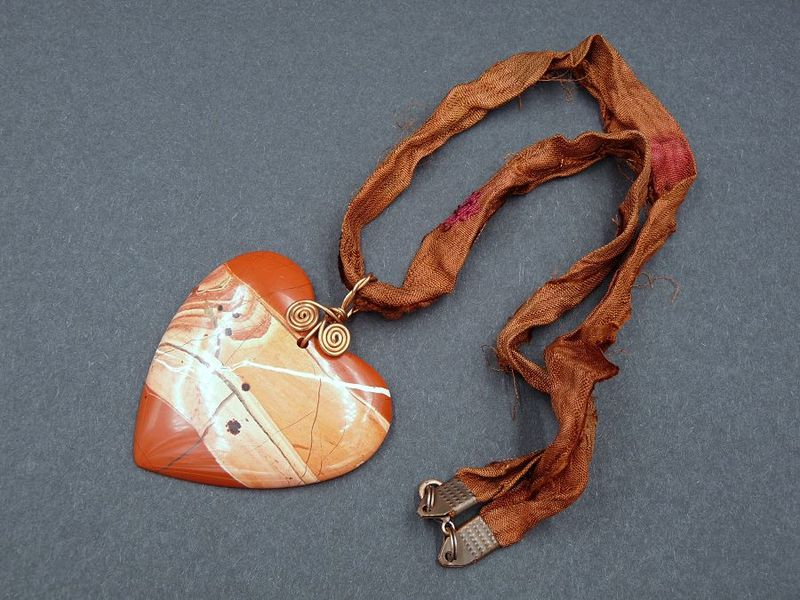 Red Jasper Heart Necklace - product image