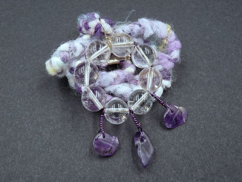 Amethyst and Quartz necklace - product image