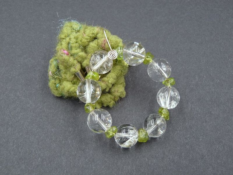 Quartz and Peridot necklace - product image