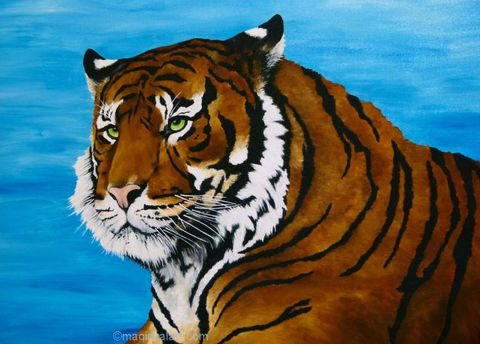 Limited,Edition,Print,-,Tiger,tiger art,tiger print, limited edition tiger artwork
