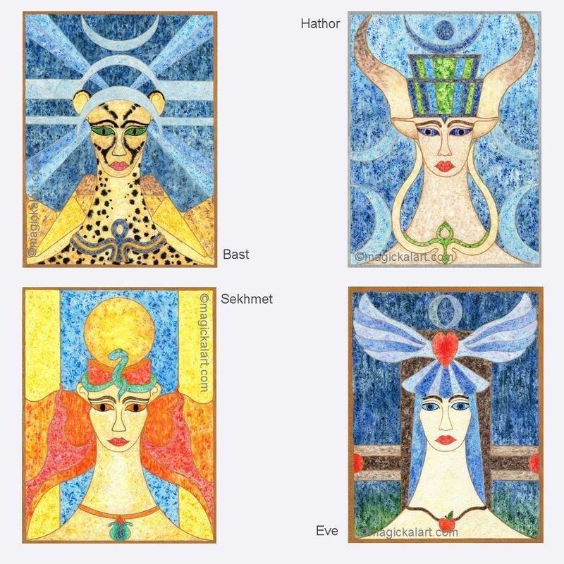 Limited Edition prints - Goddess Art - Bast, Hathor, Sekhmet - product image