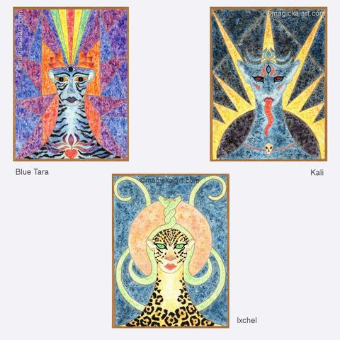 Limited,Edition,prints,-,Goddess,Art,Kali,,Blue,Tara,,Ixchel,kali art,ixchel art,blue tara art,tara art,goddess art,limited edition goddess art