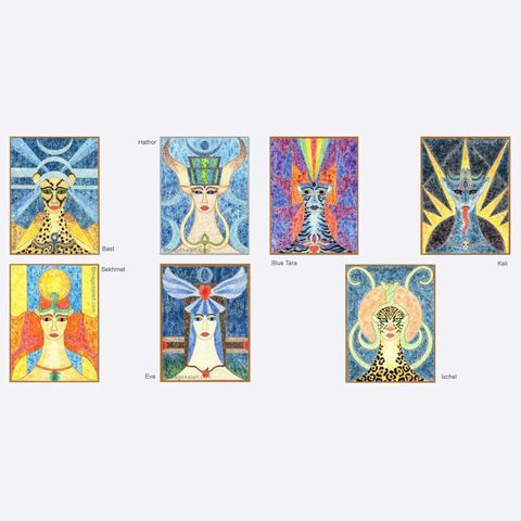 Complete,set,of,Goddess,prints,limited edition goddess prints