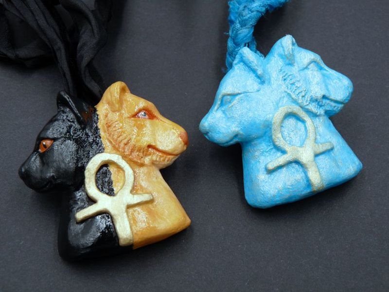 Bast and Sekhmet necklaces - product image