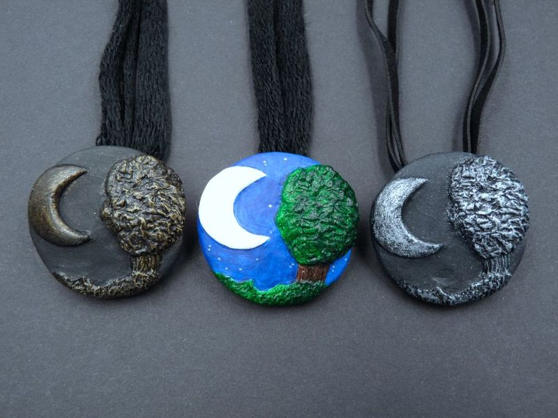 Crescent Moon Tree necklaces - product image