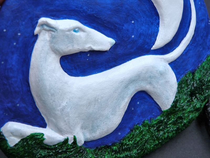 Moonlight Sighthound wall plaque - product image