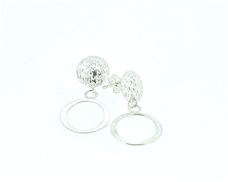 Punchstud loop earrings  - product images  of