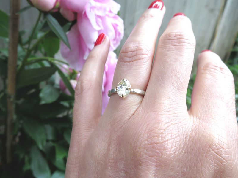 Rose Cut diamond ring - product images  of