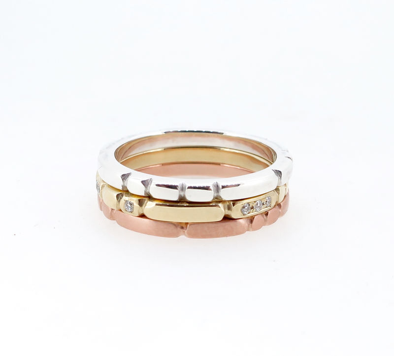Sculpt rose gold ring - product images  of