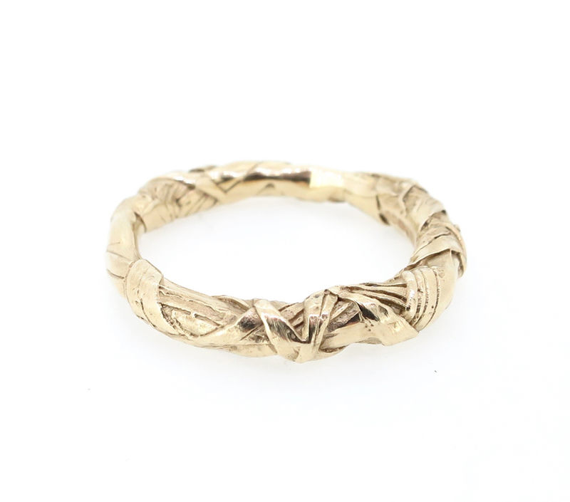 WOVEN textured ring 9ct - product images  of