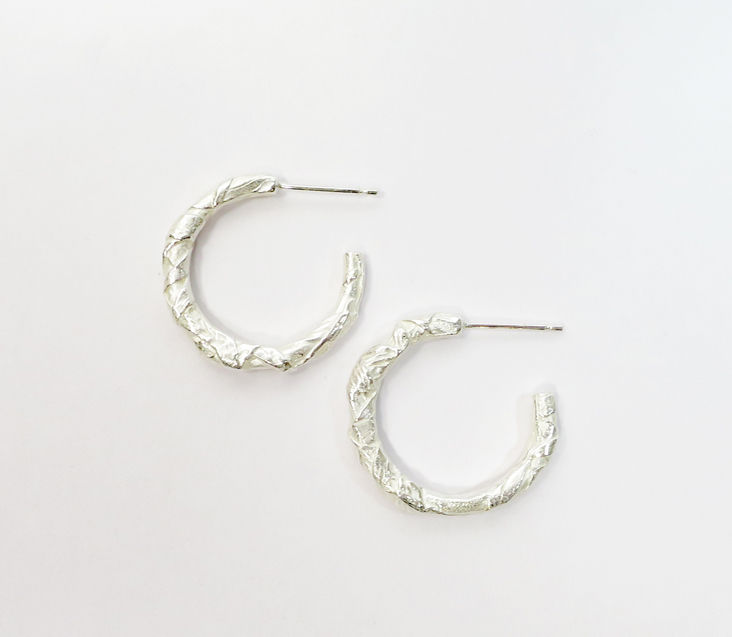 Woven silver earrings - product image