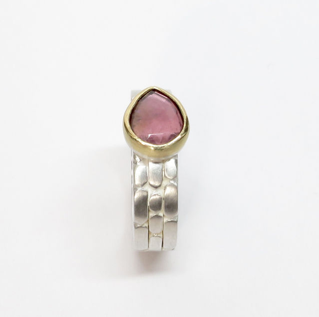 Sculpt threeband with pink tourmaline - product images  of