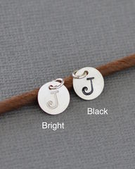 Personalized Hand Stamped Sterling Silver Initial Charm - product images 1 of 4