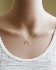 Personalized Gold Mothers Initial Charm Necklace with Three Initials - product images  of