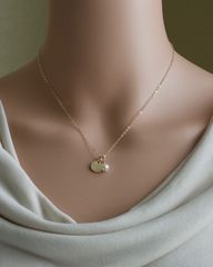 Personalized Gold Initial Necklace with Birthstone for June - product images 4 of 6
