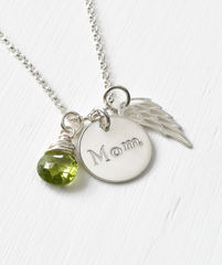 Memorial Necklace for Loss of Mom in Sterling Silver - product images 3 of 7