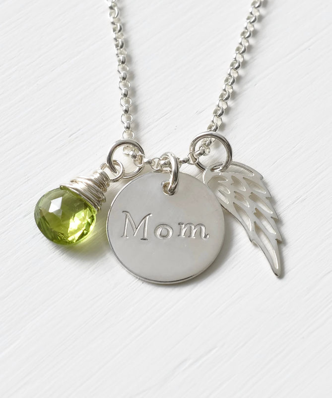 Memorial Necklace for Loss of Mom in Sterling Silver - product image