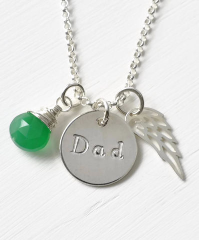 Memorial,Necklace,for,Loss,of,Dad,in,Sterling,Silver,memorial necklace for loss of dad, memorial jewelry for loss of dad