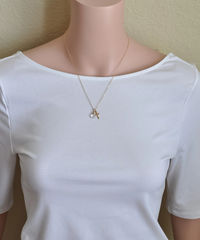 Small Gold Filled Cross Necklace with Birthstone for June - product images 5 of 7