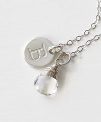 Sterling Silver April Birthstone Initial Necklace - product images 3 of 8