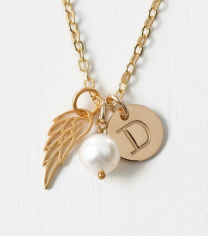 Personalized,Infant,Loss,Necklace,with,June,Birthstone,and,Initial,Charm,infant loss memorial jewelry, infant loss necklace, personalized infant loss gifts