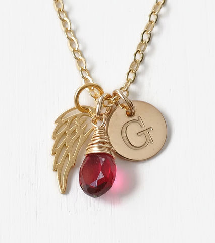 Personalized,Infant,Loss,Necklace,with,July,Birthstone,and,Initial,infant loss necklace with birthstone and initial, personalized infant loss necklace